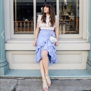 NWT Blouse Ruffled Skirt